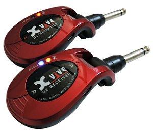 Xvive U2 Transmissor Wireless P/ Guitarra, Baixo, Violão ou Violino Elétrico - Red com Nota Fiscal