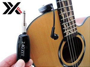 Microfone sem Fio Wireless 2.4G XXLive - Transmissor e Receptor para Instrumentos de Cordas - G18C