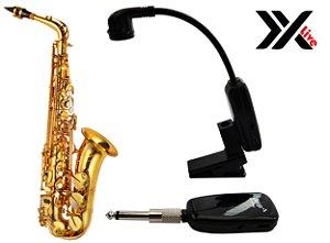 Microfone Transmissor e Receptor Wireless XXLive para Saxofone  - U12SKS