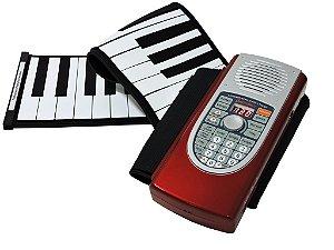 Teclado Musical de Rolo 61 Teclas Midi - Hand Roll Piano com Bag - Lançamento !!