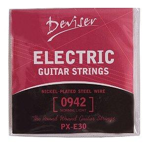 Cordas para Guitarra Elétrica e Acústica - marca Deviser - medidas 009 e 010