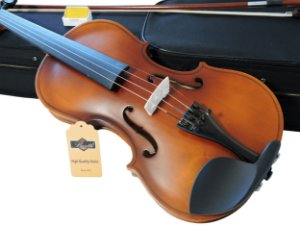 Kit Violino Barth Violin Old (envelhecido) 4/4 com Estojo  BK, Arco,Breu + Afinador mod. AT-01A