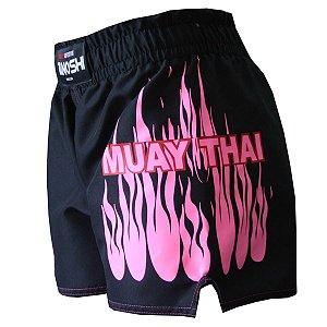 Shorts de MuayThai Fire TANOSHI Pink