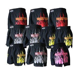Kit 10 Shorts Fire MuayThai