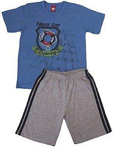 Conjunto Masculino Infantil Blusa e Bermuda