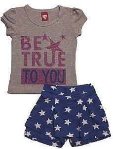 Conjunto Blusa e Shorts-Saia