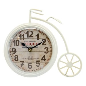 Relógio Bicicleta Branco AA-02 B
