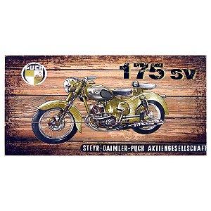 Quadro de Madeira Moto Amarela AA-62 D