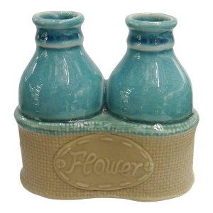 Vaso Flower Azul BB-09