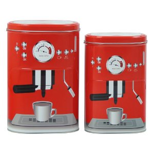 Jogo c/2 Latas Vermelha Coffee Express CA-68