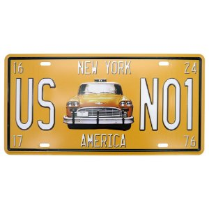 Placa de Metal Taxi CF-13