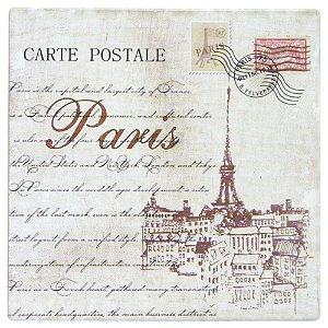 Quadro de Madeira Postal Paris CF-27