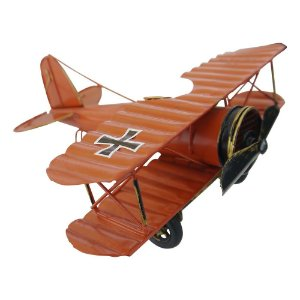 Avião Vermelho Pequeno em Metal CM-58