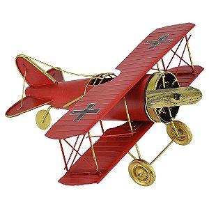 Avião Vermelho Grande em Metal CM-60