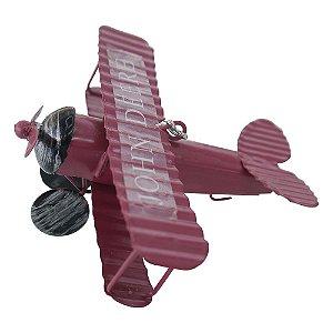 Mini Avião Vermelho em Metal CM-61 A