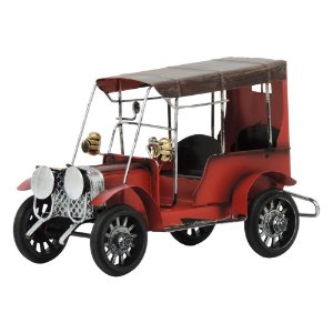 Carro Antigo Vermelho em Metal CM-63