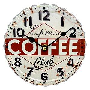 "Relógio de Metal Expresso ""Coffee Club"" CW-11"