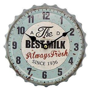 """Relógio """"The Best Milk"""" CW-12"""