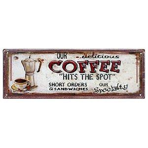 Placa Coffee em metal CW-24