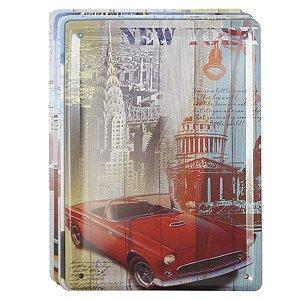 Jogo de Placas Carros Coloridos c/ 8 peças DS-22