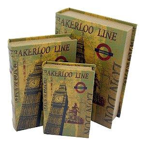 Jogo c/3 Porta Objetos Livro London DX-10
