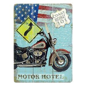 Quadro De Madeira Motor Motor Hotel DX-40 A