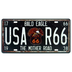 Placa de Metal USA Route 66 DX-46