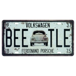 Placa de Metal Fusca Beetle DX-48