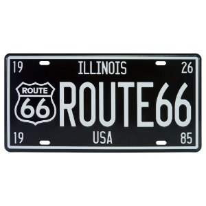 Placa De Metal Route Illinois DX-49
