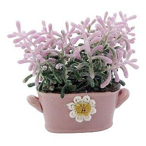 Vasinho Carrinho Com Flor em Cerâmica EY-03