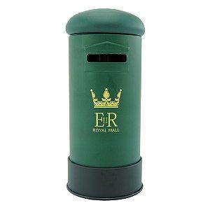 Cofrinho Decorativo Caixa De Correio Inglaterra Verde EY-39
