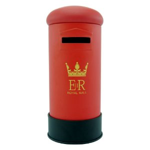 Cofrinho Decorativo Caixa De Correio Inglaterra Vermelho EY-40