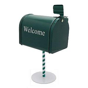 Miniatura Caixa De Correio Welcome Verde EY-54
