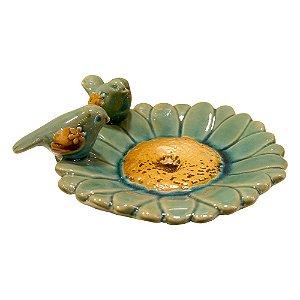 Porta Objetos de Cerâmica Margarida Azul FG-15