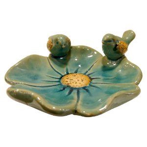 Porta Objetos de Cerâmica Pássaros Azul FG-16
