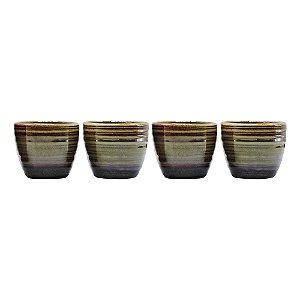 Jogo c/4 Vasinhos em Cerâmica FG-20