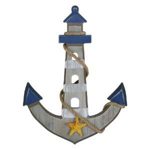 Âncora Grande com Estrela em Madeira FG-55