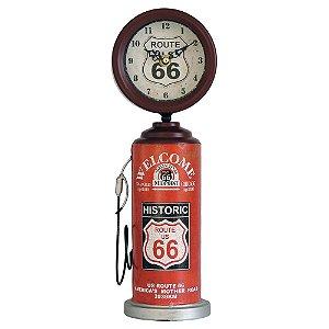 Relógio Vermelho Bomba de Gasolina em metal GC-04