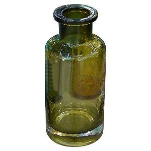 Vaso Garrafa Verde de Vidro Médio GC-93