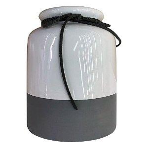 Vaso Branco e Cinza HC-14