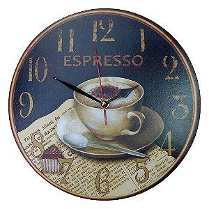 Relógio Café Expresso em Madeira KZ-19