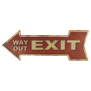 Placa Exit em metal KZ-42