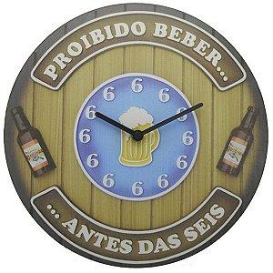 Relógio Proibido Beber Antes das Seis LA-68