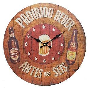 Relógio Proibido Beber Antes das Seis LA-69