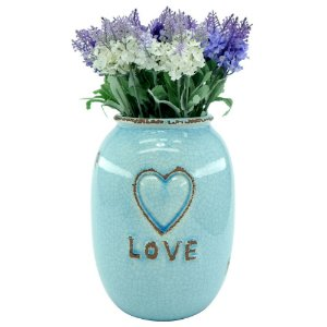 Vaso Decorativo Love Azul Grande LJ-60