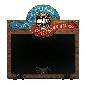 Quadro e Cabideiro Cerveja Gelada Brahma LZ-17