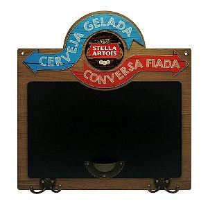 Quadro e Cabideiro Cerveja Gelada Stella LZ-18