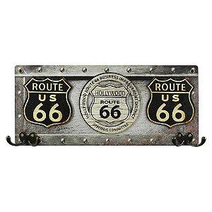 Cabideiro Rústico Route 66 MH-07