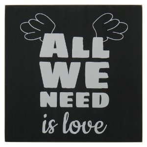 "Quadro Negro ""All We Need is Love"" MH-58"