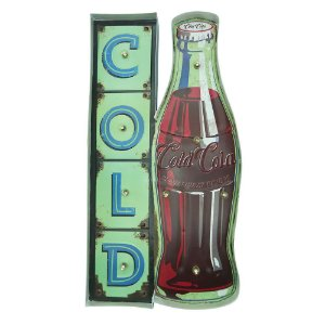 "Placa ""Cold Drink"" com Luzes de LED MT-02"